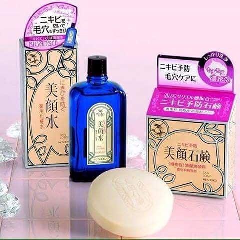 Xà Phòng Trị Mụn Meishoku Bigansui Medicated Skin Cho Mặt