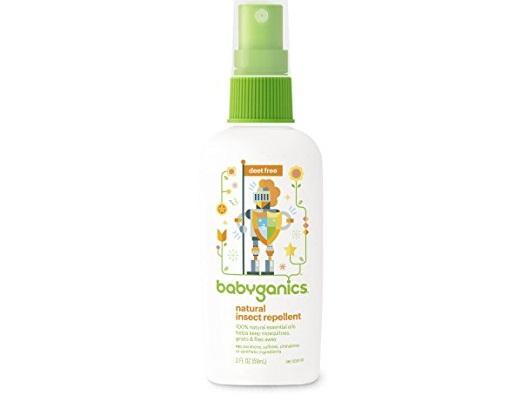 Xịt chống côn trùng Babyganics Natural Insect Repellent 59ml