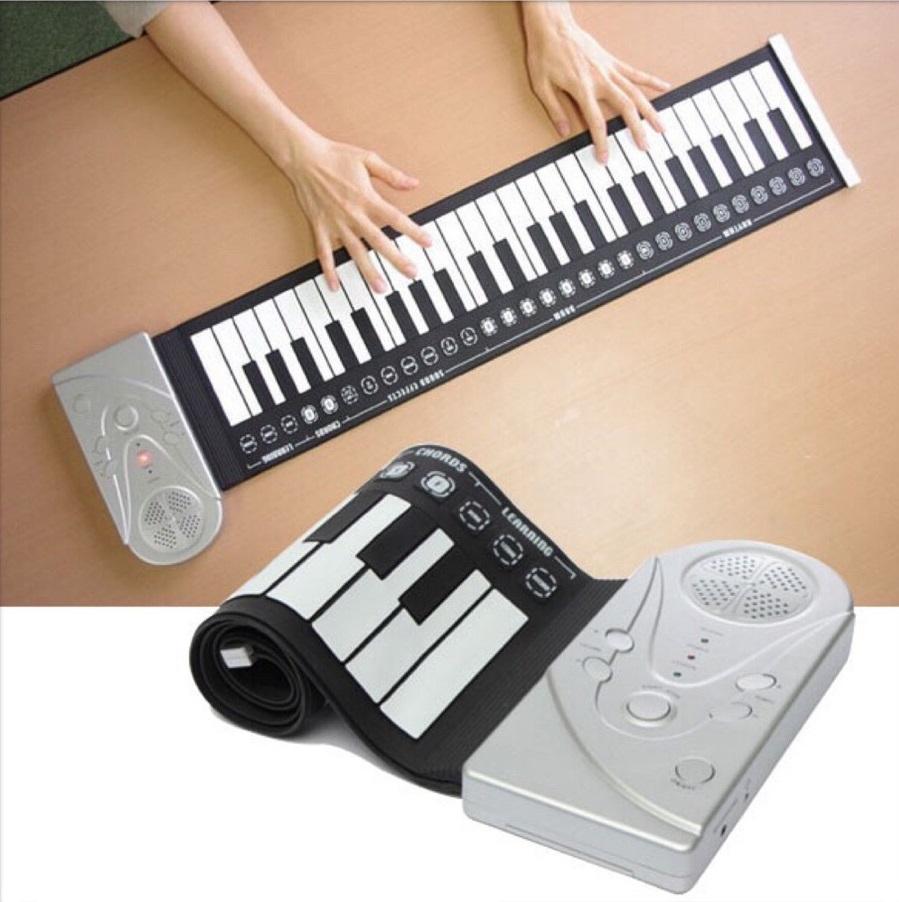 Đàn piano điện tử cuộn dẻo 49 phím giá rẻ có bảo hành