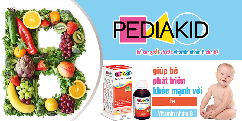 Pediakid bổ Sung Sắt (Fer) + Vitamin B cho bé từ 6 tháng