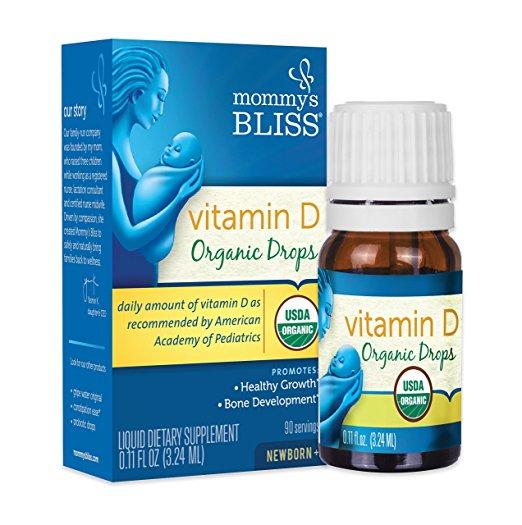 Vitamin D3 Mommys Bliss Organic Drop 3.24ml của Mỹ