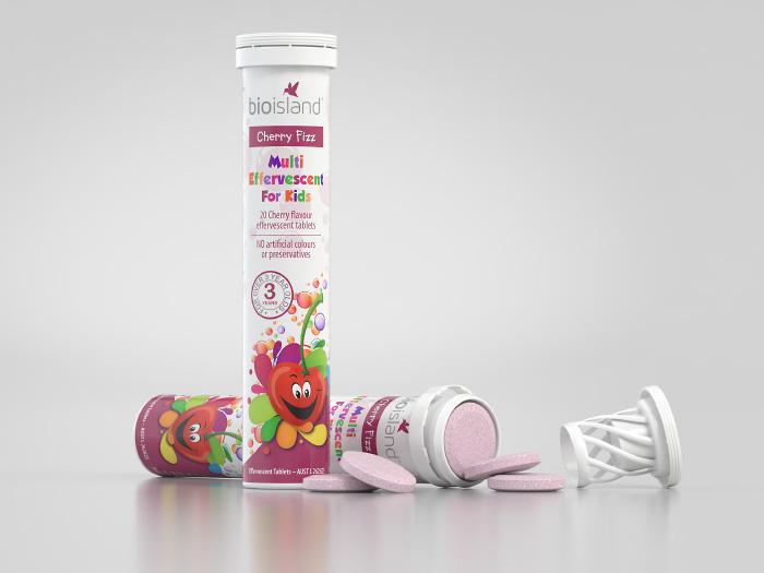 Bio Island dạng sủi bổ sung 20 loại vitamin cần thiết cho quá trình phát triển của trẻ