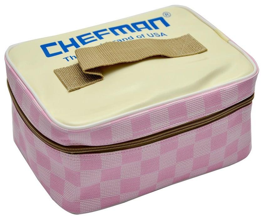 Hộp cơm hâm nóng Chefman CM-112i Inox có hộp da đựng đi kèm rất sang trọng