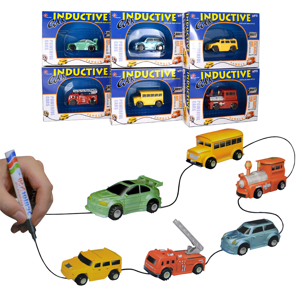Những chiếc Ô tô sẽ chạy bám sát các cung đường do bé vẽ, vẽ đến đâu xe chạy đến đó