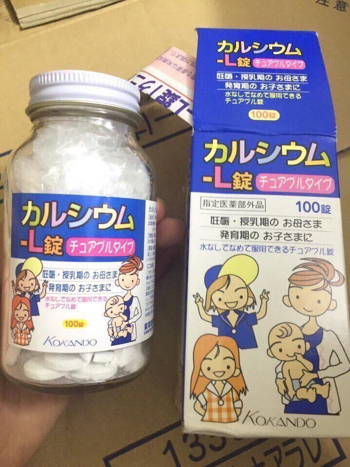 Viên uống canxi Kokando Nhật Bản cho trẻ trên 7 tuổi