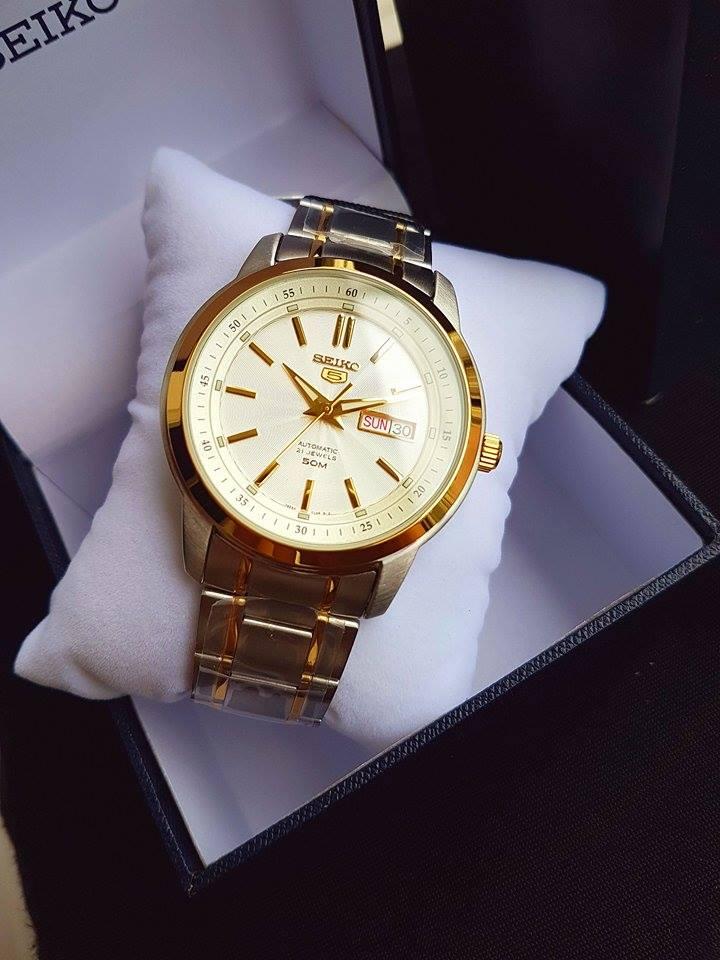 Dây đồng hồ demi với 2 màu vàng - bạc lịch lãm, sang trọng