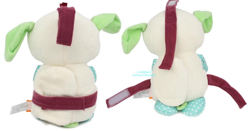 Gấu ru ngủ Infantino được trang bị móc treo mềm trên đầu hoặc dây dính sau lưng