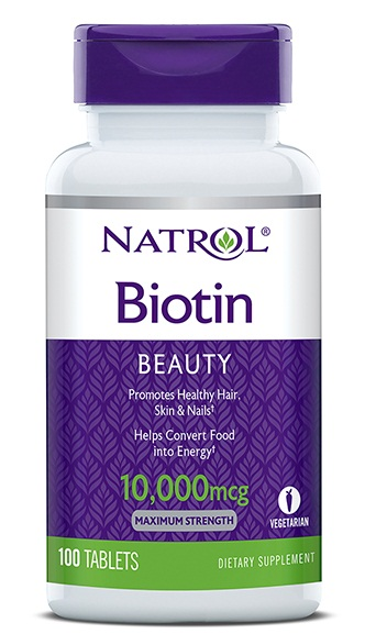Natrol Biotin 10000 mcg mẫu mới nhất 2017