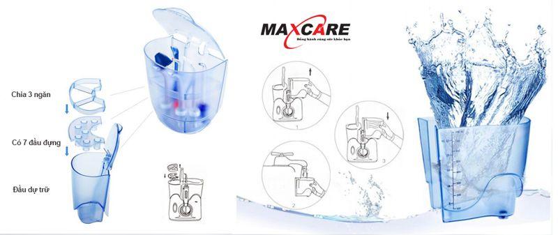 Máy tăm nước Maxcare Max 456 Plus sóng siêu âm 5