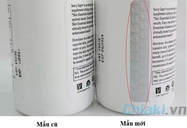 Viên Uống Trắng Da, Giảm Nám, Tàn Nhang Ivory Caps Glutathione