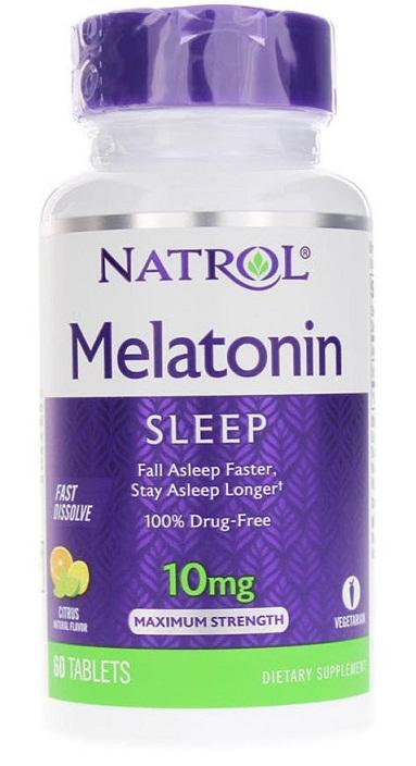 Natrol Melatonin 10mg Giúp Ngủ Sâu Giấc