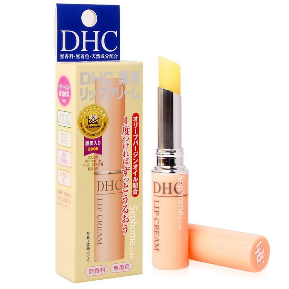 Son dưỡng môi DHC không mùi giúp dưỡng ẩm, trị thâm môi hiệu quả