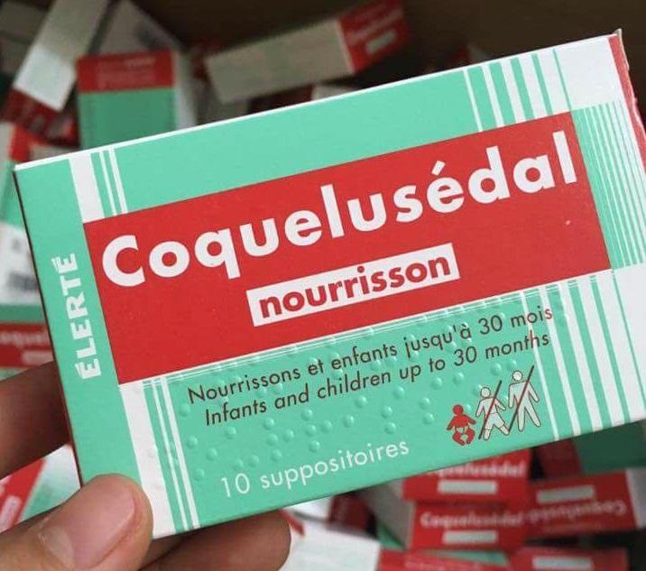 Viên đặt hậu môn Coquelusedal trị ho, long đờm cho trẻ từ sơ sinh tới 30 tháng