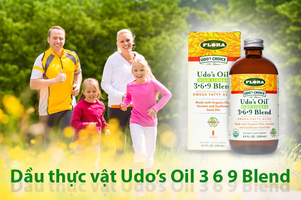 Công dụng Dầu thực vật hữu cơ Flora Udo's Oil