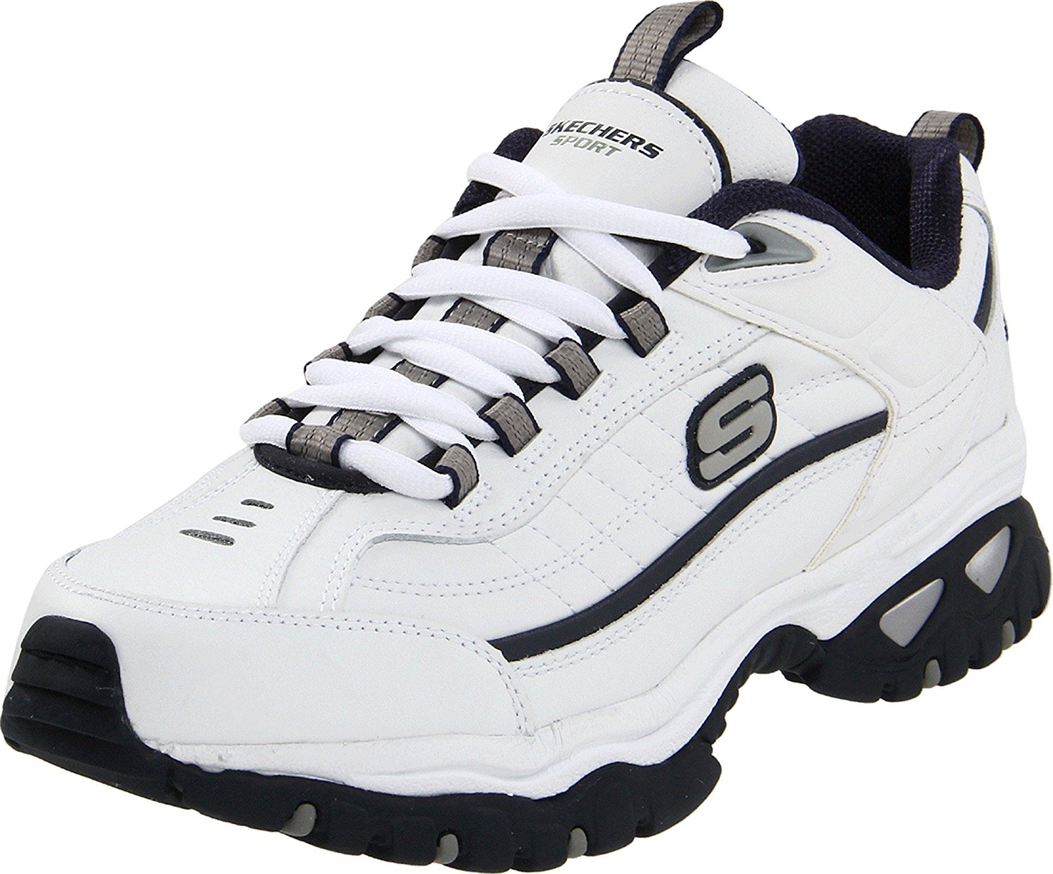 Giày thể thao nam Skechers Energy Afterburn White/Navy 1