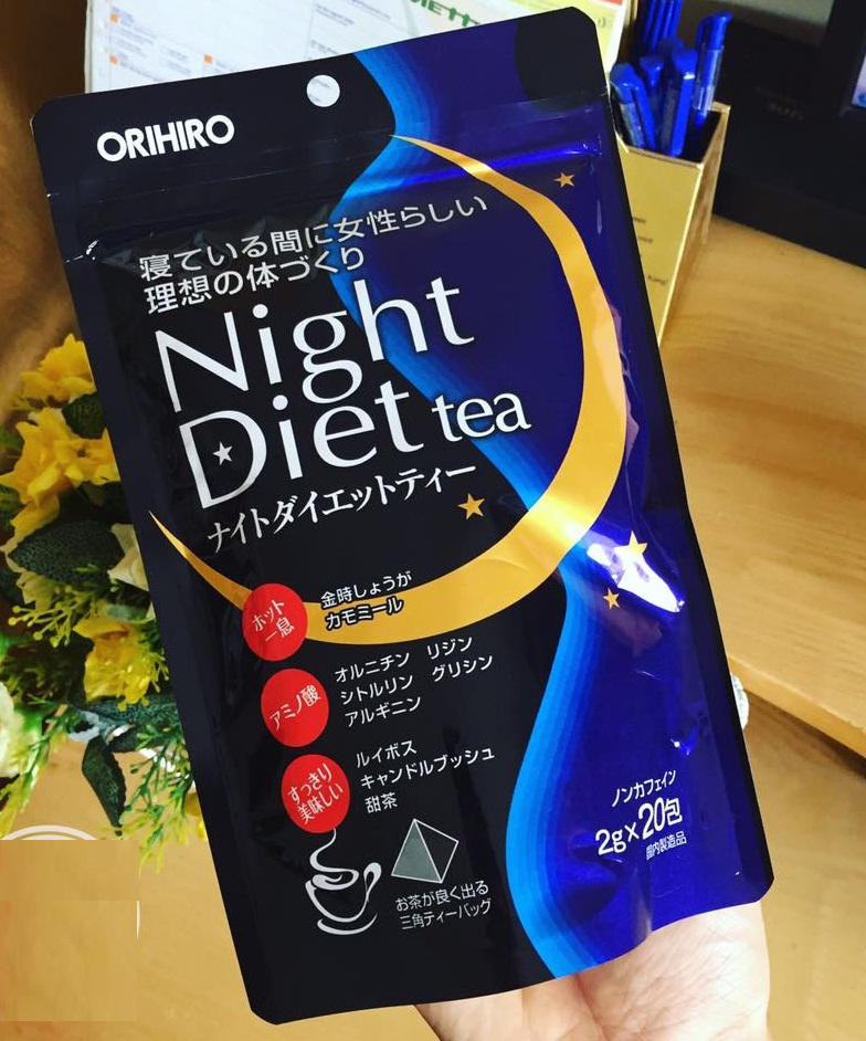 Trà giảm cân Orihiro ban đêm night diet tea Nhật Bản