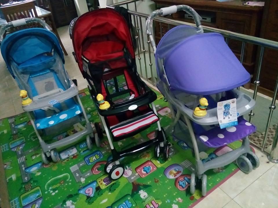Xe đẩy cho bé Baobaohao 722C có 3 màu: đỏ, xanh, tím dễ thương cho cả bé trai và bé gái