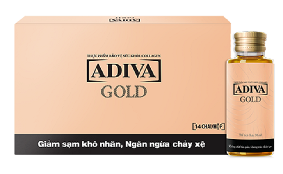 Collagen Adiva Gold bổ sung collagen dạng Peptide giúp hấp thu dễ dàng, làm đẹp da nhanh chóng