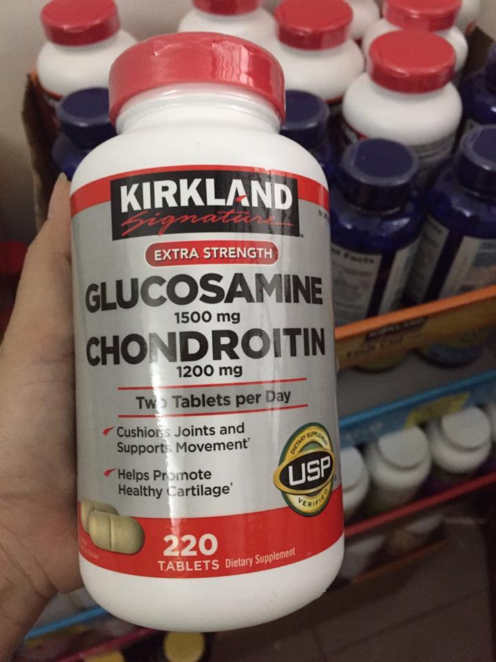 Viên uống Glucosamine Chondroitin mẫu mới nhất 2018