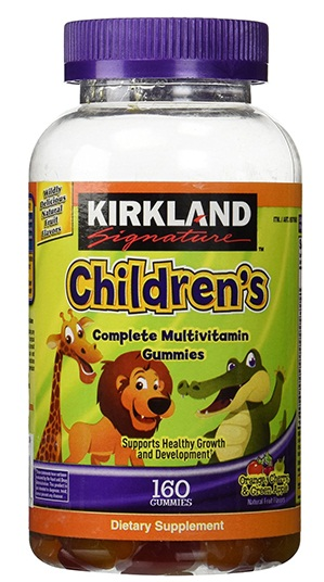 Kẹo bổ sung vitamin cho bé Kirkland Children's Multivitamin mẫu 2017