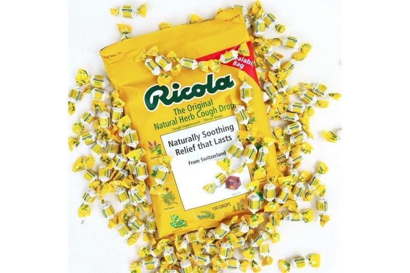 Kẹo Ricola của Mỹ không đường tốt cho sức khỏe, đặc biệt đối với những người đang trong chế độ ăn kiêng