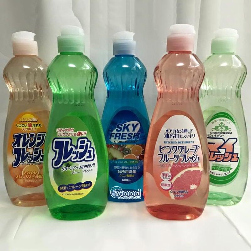 Nước rửa bát, rửa hoa quả Rocket My Fresh 600ml - Nhật bản