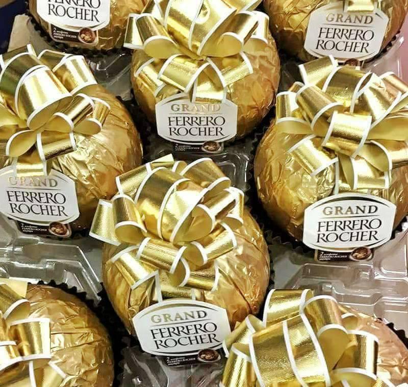 Socola Ferrero Rocher hình quả cầu vàng buộc nơ 125g 4