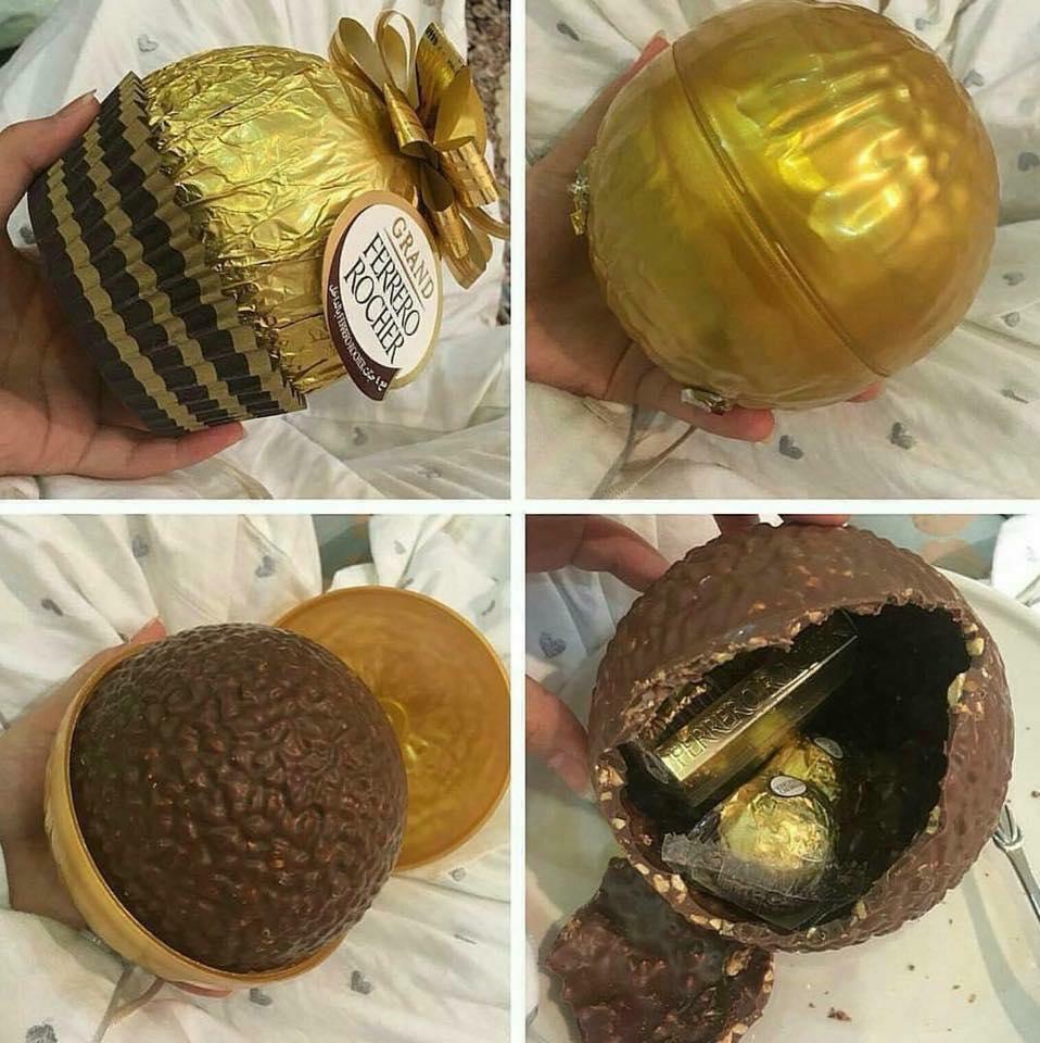 Socola Ferrero Rocher hình quả cầu vàng buộc nơ 125g 3