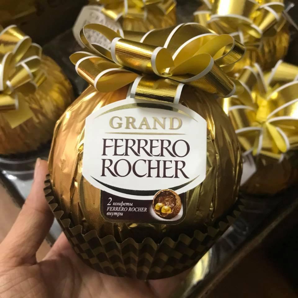 Socola Ferrero Rocher hình quả cầu vàng buộc nơ 125g 1