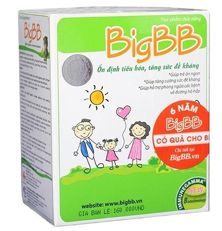BigBB ổn định tiêu hóa, tăng đề kháng