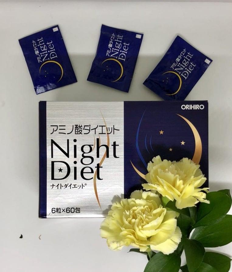 Viên uống giảm cân ban đêm Night Diet Orihiro hộp 60 gói