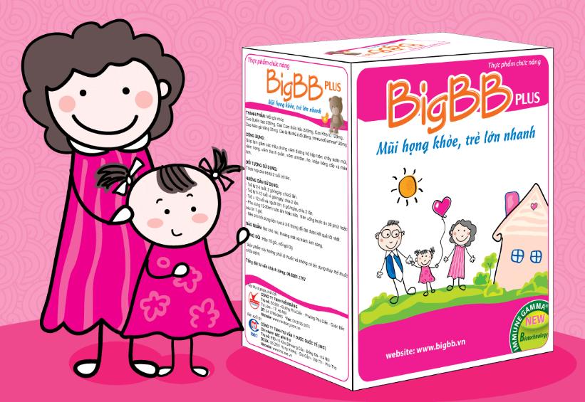 BigBB Plus Hồng mũi họng khỏe, tăng đề kháng chính hãng
