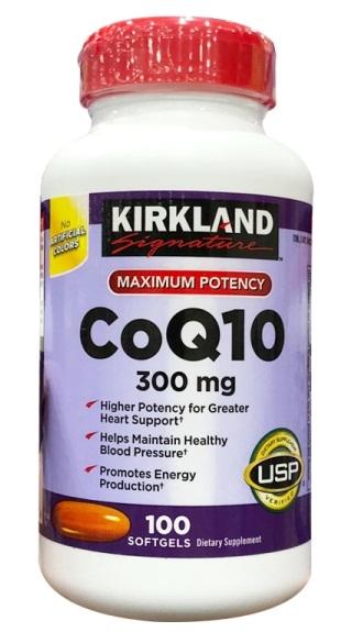 Viên uống hỗ trợ tim mạch Kirkland CoQ10 300mg mẫu mới nhất 2018