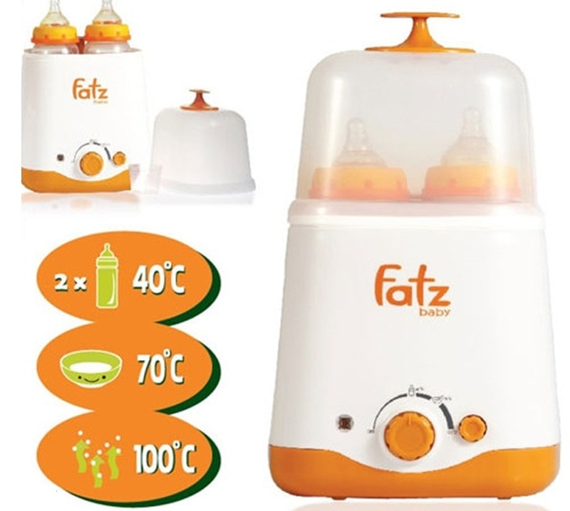 Máy hâm và tiệt trùng bình sữa Fatzbaby FB3012SL 2 bình cổ rộng 1