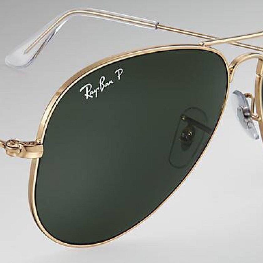 bc98b3ca2 Mắt kính Rayban Aviator Green Polarized RB3025 001/58 58-14 2