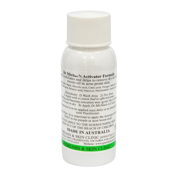 Nhãn sản phẩm Serum trị mụn Dr Michaels Activator Formula 50ml