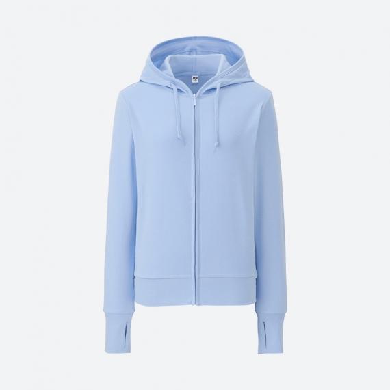 Áo chống nắng Uniqlo nữ màu xanh da trời - Blue