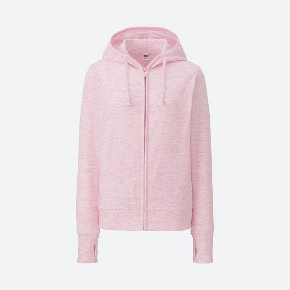 Áo chống nắng Uniqlo nữ chất cotton màu số 12 pink - hồng xước