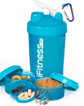Bình lắc iFitness Pro Shaker 4 in 1 cao cấp 4