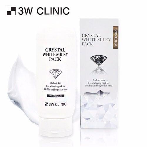 Kem Dưỡng Trắng Da 3w Clinic Crystal Whitening Milky Pack 1