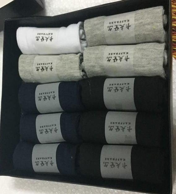 Hộp 10 đôi tất  khử mùi hôi chân Kaffdare Nhật Bản cổ thấp