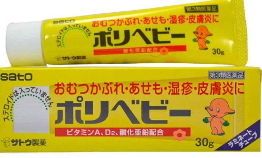 Kem chống hăm Sato Polybaby Nhật  Bản 1