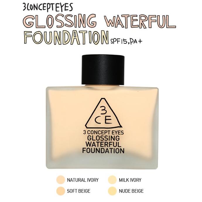 Kem nền Glossing Waterful Foundation 3ce 3