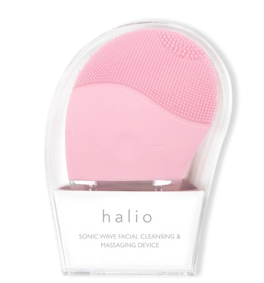 Máy rửa mặt Halio màu hồng nhạt