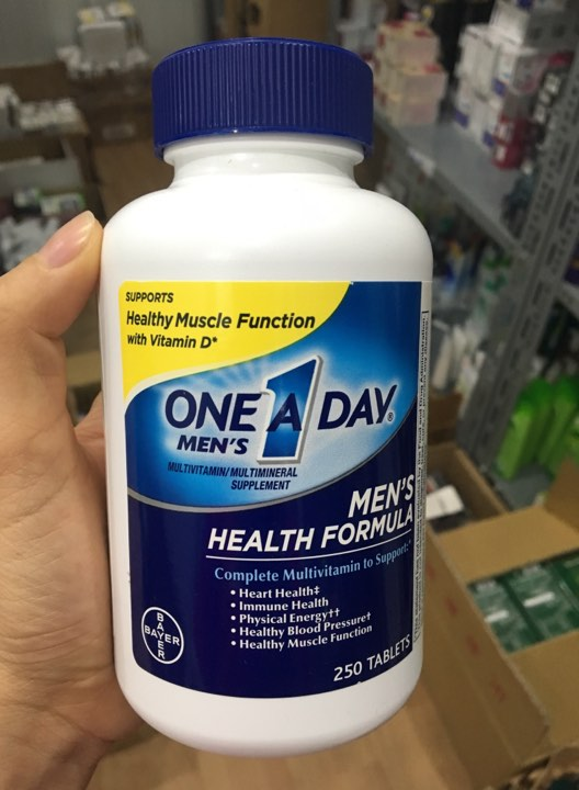 One A Day Men's Multivitamin Health Formula loại 250 viên