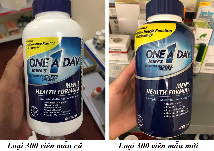 One A Day Men's Multivitamin Health Formula cho nam 300 viên