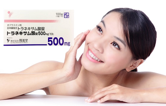Viên uống dưỡng trắng trị nám Transamin 500mg Nhật Bản 2