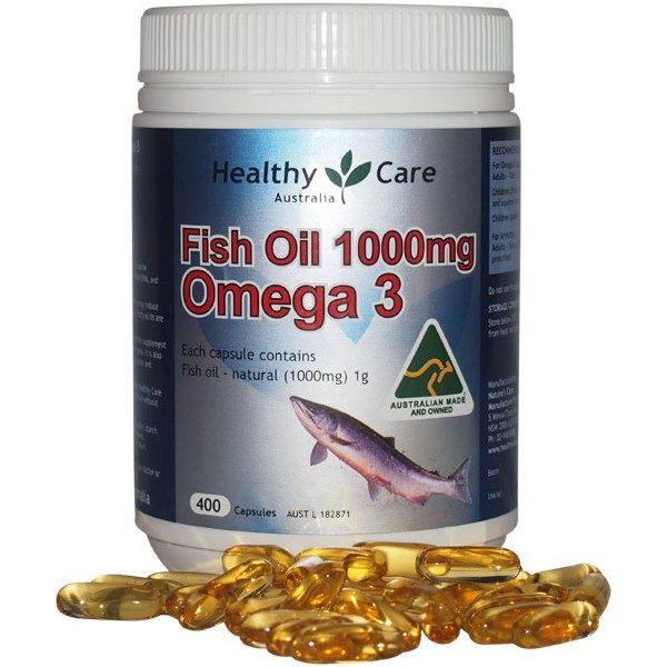Dầu Cá Tự Nhiên Fish Oil Healthy Care Omega 3 1000mg