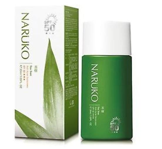 Kem chống nắng Naruko Tea Tree Anti-Acne tinh chất tràm trà trị mụn SPF 50
