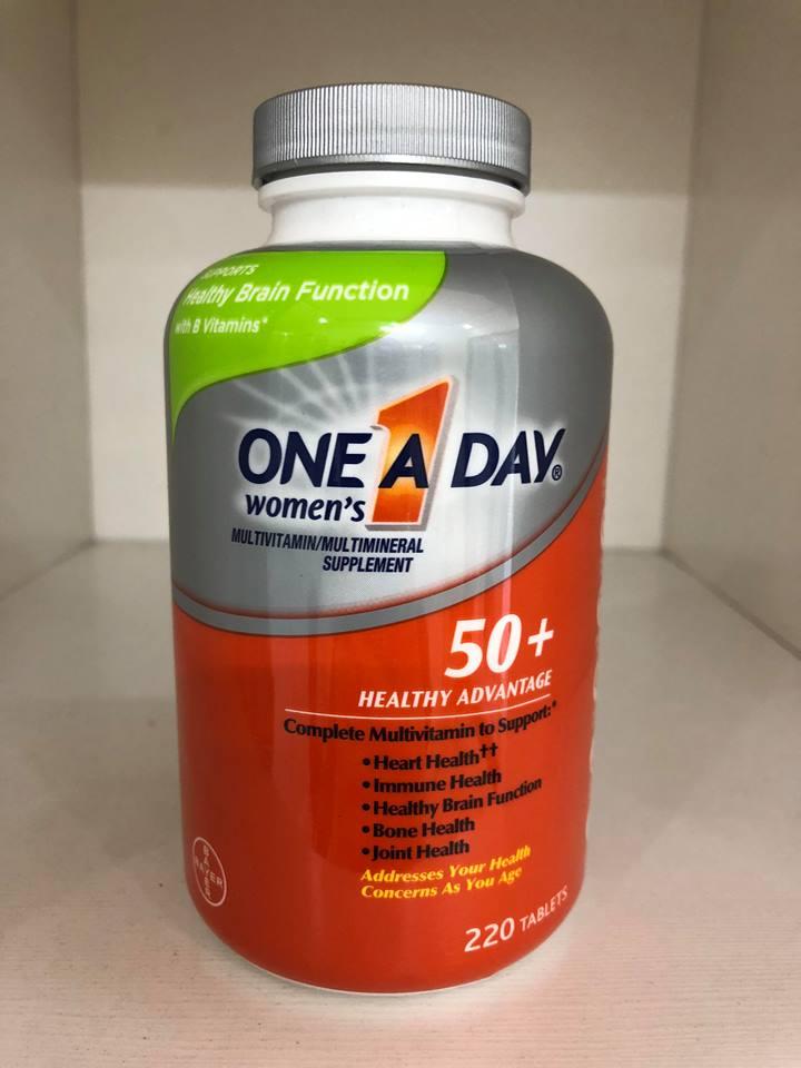 One A Day For Women 50+ loại 220 viên mẫu mới